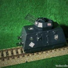 Trenes Escala: LOTE VAGON BLINDADO EJERCITO ALEMAN WWII - NAZI DE LAS SS - APTO PARA VIAS H0 Y OO - PINTADO A MANO. Lote 243065265
