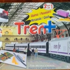 Trenes Escala: PEQUETREN. DOS TRENES EN UNO. VALTOY VALENCIANA DE JUGUETES. TREN ANTIGUO. Lote 243672040