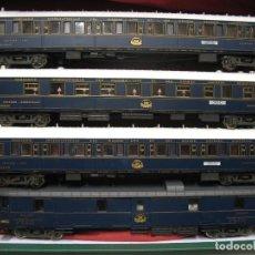 Trenes Escala: DEL ORIENT- EXPRESS TREN DE 4 UNIDADES HO AZUL. Lote 243913905