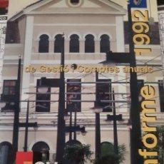 Trenes Escala: FERROCARRILES FGV. MEMORIA ANUAL AÑO 1993. Lote 245922070