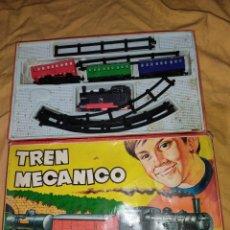 Trenes Escala: JUEGUETE ANTIGUO, TREN MECÁNICO 133 ORIGINAL. Lote 246209435