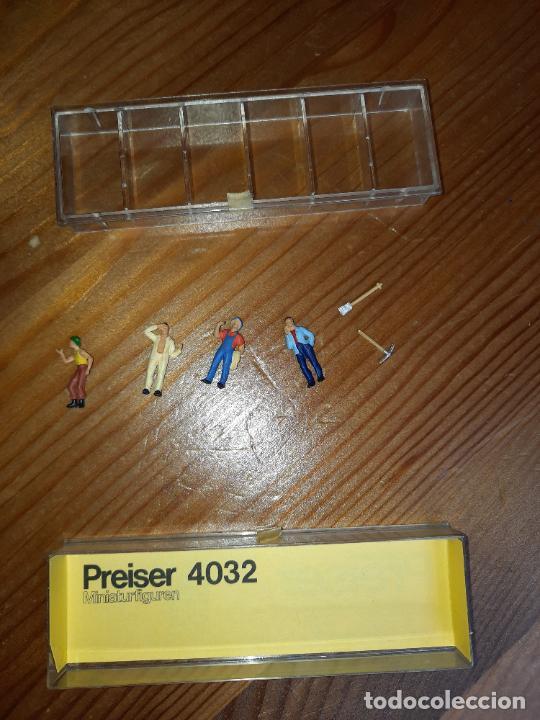 Trenes Escala: PREISER,CAJA CON 4 FIGURAS Y DOS HERRAMIENTAS H0, - Foto 4 - 247090855