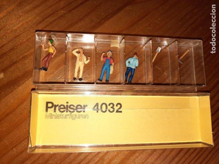 PREISER,CAJA CON 4 FIGURAS Y DOS HERRAMIENTAS H0, (Juguetes - Trenes Escala H0 - Otros Trenes Escala H0)