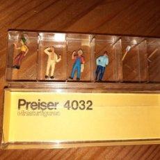 Trenes Escala: PREISER,CAJA CON 4 FIGURAS Y DOS HERRAMIENTAS H0,. Lote 247090855