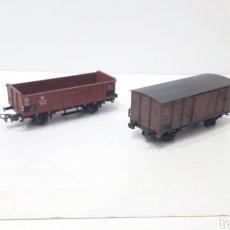 Trenes Escala: JIFFY VENDE 2 VAGONES PIKO DE MERCANCIAS. Lote 247527780