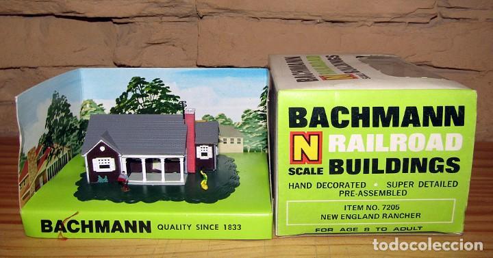 BACHMANN - NEW ENGLAND RANCHER - GANADERO NUEVA INGLATERRA REF 7201 NUEVO Y EN SU CAJA - ESCALA N (Juguetes - Trenes - Varios)