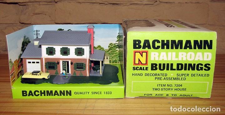 BACHMANN - TWO STORY HOUSE - CASA CHALET - REF. 7204 - NUEVA Y EN SU CAJA ORIGINAL - ESCALA N (Juguetes - Trenes - Varios)