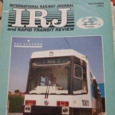 Trenes Escala: FERROCARRIL. REVISTA INTERNATIONAL RAILWAY JOURNAL, NOVIEMBRE 1991. Lote 251562775
