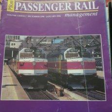 Trenes Escala: FERROCARRIL. REVISTA PASSENGER RAIL, ENERO 1996. Lote 251564395