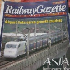 Trenes Escala: FERROCARRIL. REVISTA RAILWAY GAZETTE, JUNIO 1998. Lote 251565885