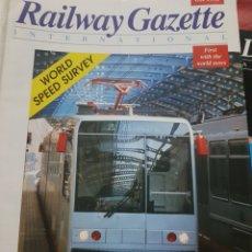 Trenes Escala: FERROCARRIL. REVISTA RAILWAY GAZETTE, OCTUBRE 1993. Lote 251566365