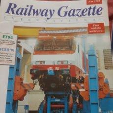 Trenes Escala: FERROCARRIL. REVISTA RAILWAY GAZETTE, NOVIEMBRE 1994. Lote 251566975