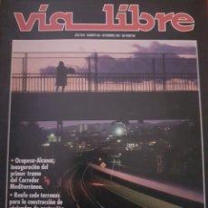 Trenes Escala: FERROCARRIL. REVISTA VÍA LIBRE N°346, NOVIEMBRE 1992. Lote 251663315