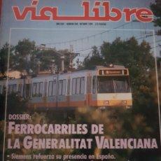 Trains Échelle: FERROCARRIL. REVISTA VÍA LIBRE N°309 OCTUBRE 1989. Lote 251663965