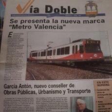 """Trenes Escala: FERROCARRIL. PERIÓDICO FGV """"VÍA DOBLE"""" N°2 ABRIL 1998. Lote 251664285"""