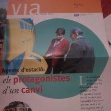 "Trenes Escala: FERROCARRIL FGC. PERIÓDICO FERROCARRILES CATALANES ""VÍA"" N°42 FEBRERO 1998. Lote 251664705"