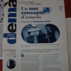 "Trenes Escala: FERROCARRIL. FOLLETO FGC ""DEMÀ"" N°2 FEBRERO 1996. Lote 251877870"