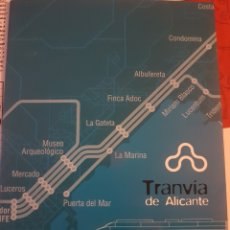 Treni in Scala: FERROCARRIL FGV. FOLLETO PRESENTACIÓN TRANVÍA DE ALICANTE.. Lote 251886020