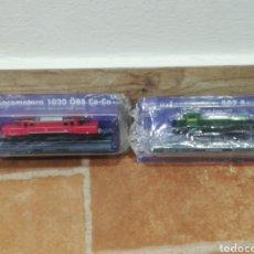 Trenes Escala: LOTE DE 2 TRENES LOCOMOTORA TREN EN BLISTER A ESCALA 1020 CO-CO Y 307 BO-BO RENFE. Lote 274419863