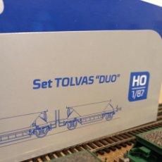 Trenes Escala: SET 2 PARES DE TOLVAS DUO RENFE ENVEJECIDAS MABAR H0 REF.81718. Lote 253914725