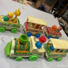 Trenes Escala: ANTIGUO JUGUETE TREN SAFARI DE CHAPA Y PLÁSTICO OBERTOYS AÑOS 80. VER FOTOS. Lote 254122195