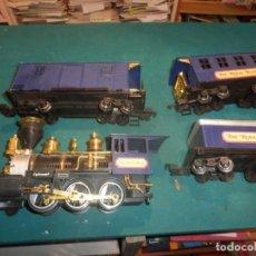 Trains Échelle: TREN, THE ROYAL BLUE (LOCOMOTORA + VAGÓN CARBONERA + VAGÓN CARGA + VAGÓN PASAJEROS) VER FOTOS. Lote 254493300