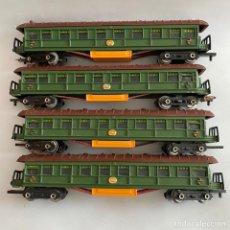 Trenes Escala: LOTE CUATRO VAGONES DE TREN JYESA 1650 IBI ESCALA H0. Lote 257793860