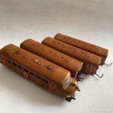 Trenes Escala: LOTE LOCOMOTORA Y TRES VAGONES JYESA IBI 1006. Lote 258260215
