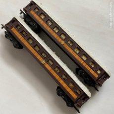 Trenes Escala: LOTE DOS VAGONES DE TREN 1652 JYESA IBI ESCALA H0. Lote 259992340
