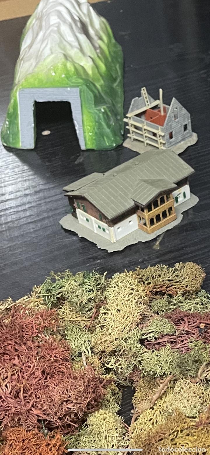 Trenes Escala: lote estacion tren Diorama ,casas túneles estación muñecos maquetas tren,ibertren? - Foto 53 - 262918250