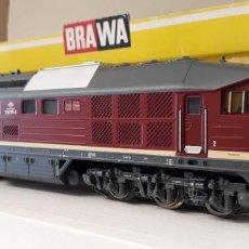 Trenes Escala: BRAWA H0 LOCOMOTORA DIÉSEL 232 *LUDMILA*, DE LA DR, REFERENCIA 0440 AC POSIBLE DIGITAL.. Lote 263077505