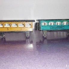 Trenes Escala: ANTIGUOS VAGONES DE MADERA.. Lote 263596075