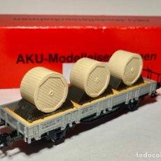 Trenes Escala: AKU - MODELLEISENBAHNEN 1020B VAGÓN PLATAFORMA SBB. Lote 265159454