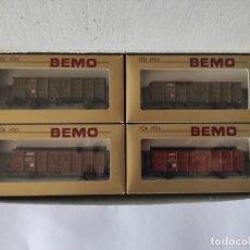 Trenes Escala: BEMO HO M. VAGONES DE MERCANCÍAS REFERENCIA 7455-100. Lote 266412638
