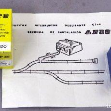 Trenes Escala: PUPITRE MANDO DESVÍOS ANESTE TREN TRENES ELÉCTRICOS ESCALA H0 CON CAJA INSTRUCCIONES. Lote 268728524