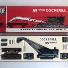 Trenes Escala: NUEVO LISTING: EN CAJA ORIGINAL. LOCOMOTORA CON GRÚA COCKERILL 85T JOUEF. 1970'S. PERFECTO ESTADO.. Lote 268892469