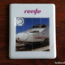 Trenes Escala: PEQUEÑO PUZLE DE PLÁSTICO CON IMAGEN DEL TREN AVE DE RENFE CON 15 PIEZAS. Lote 269270158