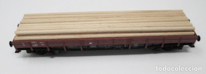 Trenes Escala: Vagón de Mercancías Fleischmann con carga de madera hecha de forma artesanal - H0 - Foto 2 - 269738553