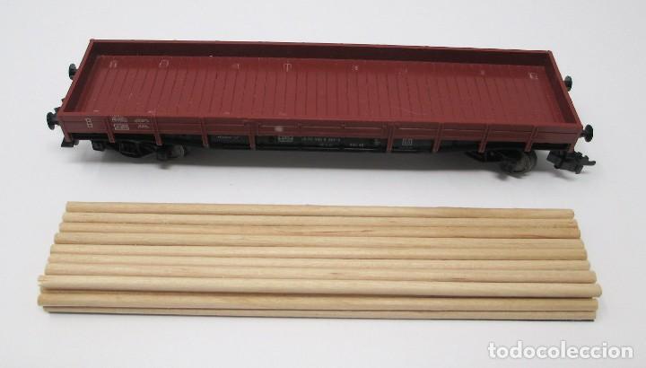 Trenes Escala: Vagón de Mercancías Fleischmann con carga de madera hecha de forma artesanal - H0 - Foto 5 - 269738553