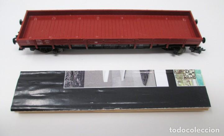 Trenes Escala: Vagón de Mercancías Fleischmann con carga de madera hecha de forma artesanal - H0 - Foto 6 - 269738553