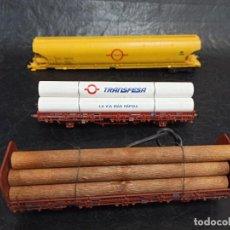 Trenes Escala: LOTE TRES VAGONES TRANSFESA. JUG.. Lote 269785843