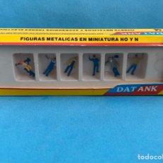 Trenes Escala: DAT ANK. FIGURITAS METÁLICA PARA MODELISMO FERROVIARIO. OPERARIOS. OBREROS. FIGURAS HECHAS EN ESPAÑA. Lote 270917073