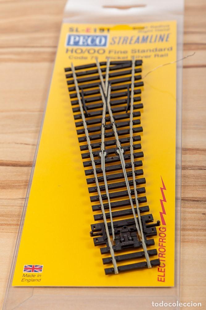 DESVÍO CORTO DERECHA PECO SL-E191 CÓDIGO 75 ELECTROFROG H0 (Juguetes - Trenes Escala H0 - Otros Trenes Escala H0)
