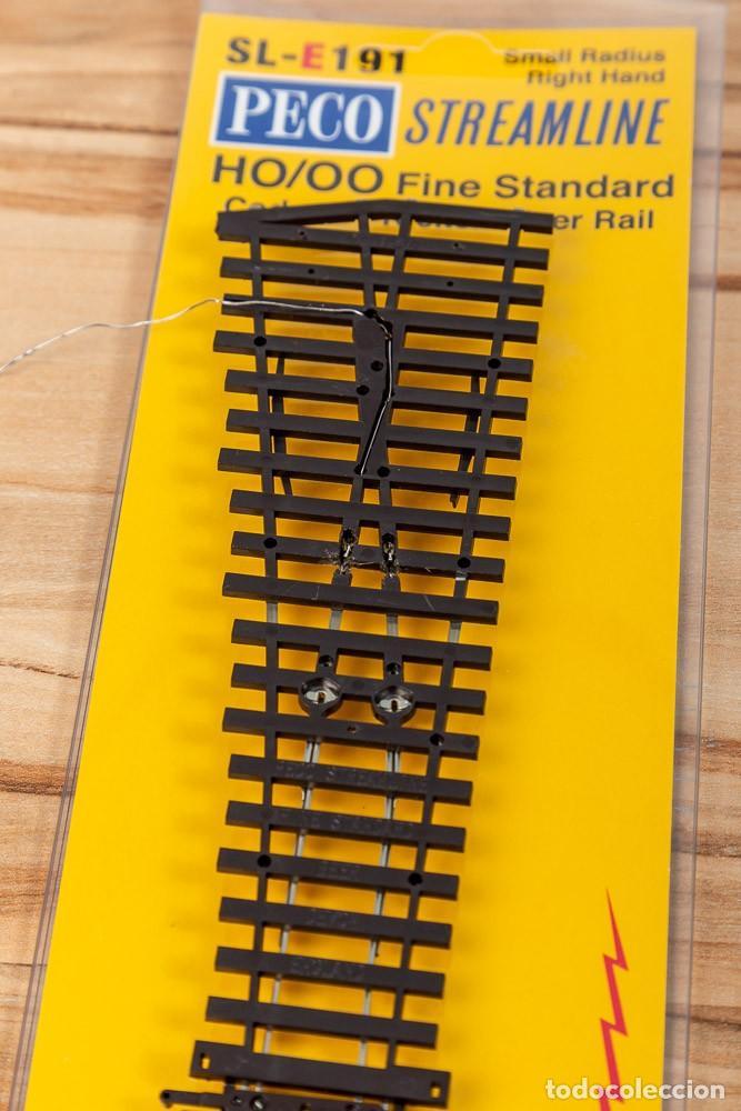 Trenes Escala: Desvío Corto Derecha PECO SL-E191 código 75 Electrofrog H0 - Foto 2 - 272014968