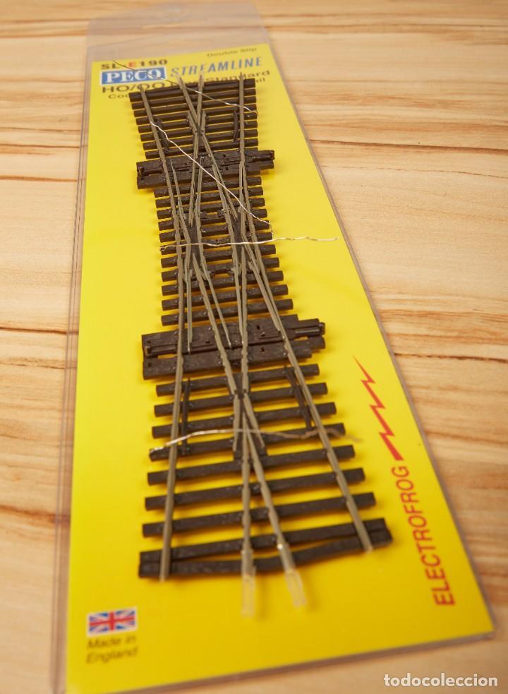 Trenes Escala: Desvío Doble PECO SL-E190 código 75 Electrofrog H0 - Foto 2 - 274394613