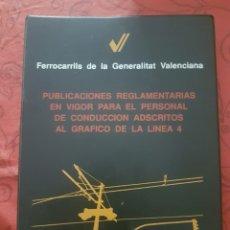 Comboios Escala: FGV. TRANVÍA DE VALENCIA. PUBLICACIONES REGLAMENTARIAS.. Lote 275527008