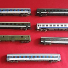Comboios Escala: LOTE DE LOCOMOTORA Y VAGONES ROCO A ESTRENAR MADE IN AUSTRIA .VER FOTOS. Lote 275565523
