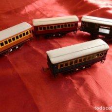 Trenes Escala: 20- 4 VAGONES DE PAYA PARA LOCOMOTORA FANTASMA (AÑOS 50). Lote 276463003