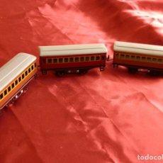 Trenes Escala: 22- 3 VAGONES DE PAYA PARA LOCOMOTORA FANTASMA (AÑOS 50). Lote 276464448
