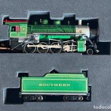 Trains Échelle: LOCOMOTORA H0 SPECTRUM BACHMAN 11413 BALDWIN 2-8-0 CONSOLIDATION TENDER STEAM SOUTHERN GREEN 722. Lote 277308883